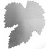 Metal Blank 24ga German Silver Leaf 40mm No Hole